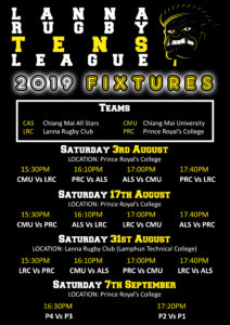 Lanna Rugby Tens League fixtures Chiang Mai